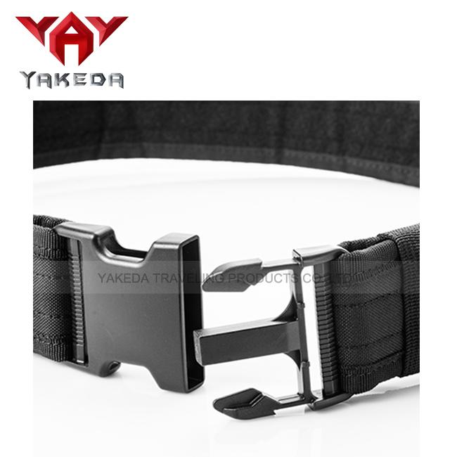 Heavy Duty Tactical Law Enforcement Pistol Belt with Horizontal Dual Magazine Pouches